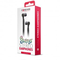 FOREVER SWING Stereo Earphones with Microphone (3.5mm) (Black)