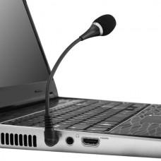 POWERTECH CAB-J042 Microphone with Flexible Arm (3.5mm) (Black)