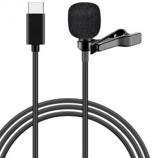 POWERTECH CAB-UC048 Microphone With Clip (Type-C) (Black)