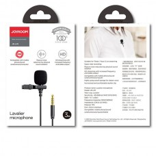 JOYROOM JR-LM1 Microphone With Clip Gold Plated (3.5mm) (3m) (Black)