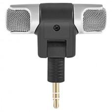 POWERTECH CAB-J041 Mini Stereo Microphone (3.5mm) (Black/Silver)
