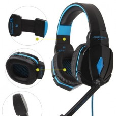 KOTION EACH G4000 USB Gaming Headphones with Microphone (3.5mm) (2.2m) (Black/Blue)