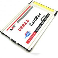 AKE BC168 Expansion PCMCIA Express Card 2-Port USB...