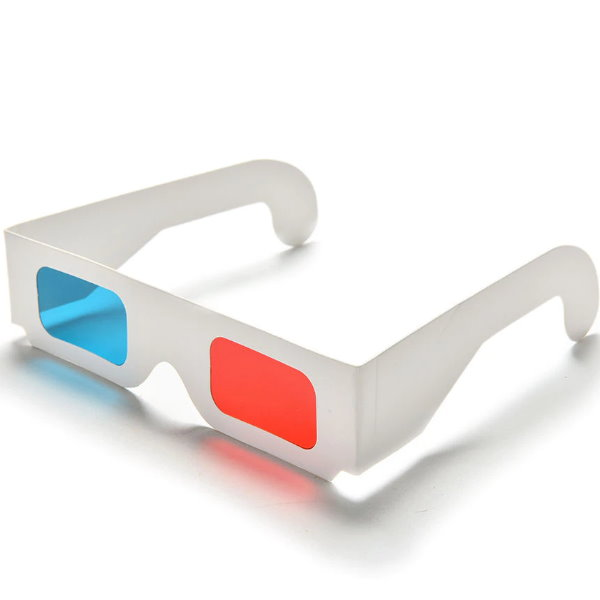 Paper Anaglyph 3D Glasses (Red/Blue) (OEM)