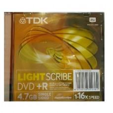 TDK DVD + R LIGHTSCRIBE in Mono Case (16x) (4.7GB)