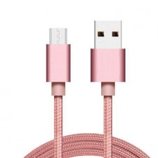 Data/Charger Cable Cord (Micro USB) (1.0m) (Pink) ...