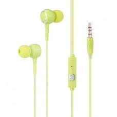 K28 In-ear Earphone with Mic (3.5mm) (Green) (OEM)
