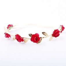 Floral Crown Fashion Flower Headband for Girls (Re...