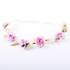 Floral Crown Fashion Flower Headband for Girls (Pi...