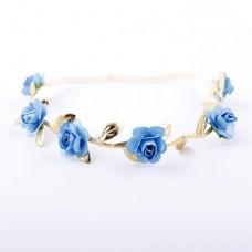 Floral Crown Fashion Flower Headband for Girls (Bl...