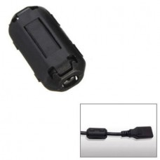 Clip On Clamp RFI EMI EMC Noise Filters Ferrite Core For 5mm Cable I5P2 (5mm) (Black) (OEM)