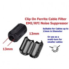 Clip On Clamp RFI EMI EMC Noise Filters Ferrite Core For Cable I5P2 (3.5mm) (Black) (OEM)