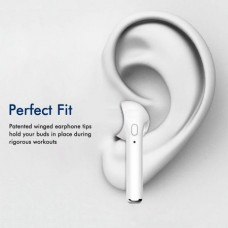 i7 Mono Bluetooth 4.1 + EDR Headset In Ear Earbud with Microphone Single Right Ear (White) (OEM)