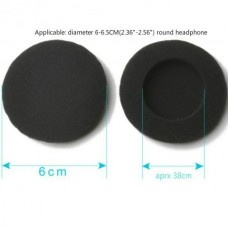 Breathable Sponge Earmuff (60mm) (Black) (OEM)