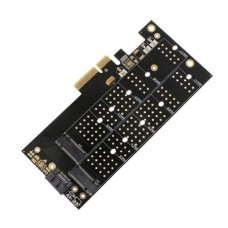Desktop Dual Port NGFF M.2 B + M Key SSD to PCI Ex...
