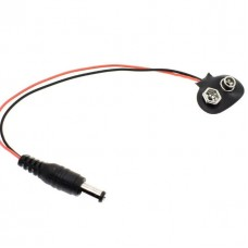 Battery Button Power Plug 90° Degrees DC 9V for A...